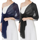 Sheer Prom Wedding Dress Bridal Scarf Shrug Wraps Soft Bolero Stole Shawl 2018