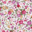 Perfect Poplin  Floral - Cousette - Ivory / Multi - 100% Cotton Dressmaking Fabr
