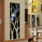 Modern Mirror Style Removable Decal Tree Art Mural Wall Sticker Home Decor Uk