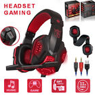 New 3.5mm Gaming Headset Wired Over LED Headphones Stereo W/Mic For Xbox One/PS4