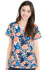MULTIPLE PRINTS-Med Couture Women's Performance Print Scrub Top-NEW-FREE SHIP