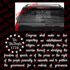 First Amendment 1776 We the People USA Flag Freedom of Speech Vinyl Decal US042