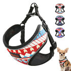 Breathable Nylon No Pull Dog Harness Reflective Adjustable Printed Puppy Vest