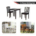 3-Piece Dining Table Set Home Furniture With Two Seater Chairs For Small Kitchen