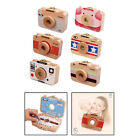 Baby Teeth Box Wooden Camera Style Save Case for Baby Teeth, Lanugo Hair