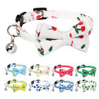 5pcs Cat Collar with Bell Cute Cat Breakaway Kitten Collars with Bell Adjustable