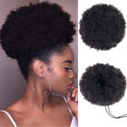 Afro Curly Hair Bun Chignon Synthetic Drawstring High Puff Ponytail Extensions.