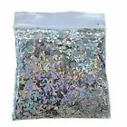 HOLOGRAPHIC STARS GLITTER SILVER MOON Twinkle Twinkle Acrylic Nail Art Holo
