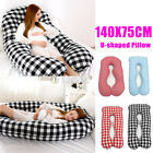 55'' Pregnancy Pillow U-Shaped Maternity Breastfeeding Body Support Sleeping