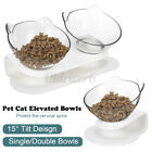Pet Feeder Cat Dog Dish Food Dispenser Food Feeding Bowl Drinking Water Fountain