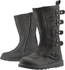 Icon 1000 Elsinore 2 Tall Motorcycle Boots BLACK