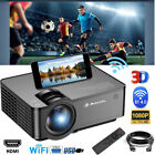 HD 1080P Wifi Bluetooth Mini Android LCD Projector Home Theater HDMI/VGA/SD