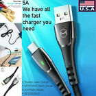 MCDODO USB To Type C 5A Fast Charge Data Cable Intelligent Power Off 1.5M Cable