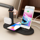 4 in 1 10W Qi Wireless Charger Ladestation Ladegerät für iWatch AirPod iPhone 12