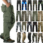 Mens Tactical Army Combat Military Cargo Casual Work Multi-Pocket Pants Trousers