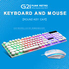 G21 USB Wired Gaming Keyboard  Mouse Set Rainbow LED Backlight for PC Laptop