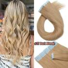 200g Thick Tape In Skin Weft Human Hair Extensions Remy Full Head Balayage Ombre