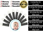 NEW+FOREHEAD+THERMOMETER+STRIP+FEVER+BABY+CHILD+ADULT+CHECK+TEMPERATURE+1-100pcs
