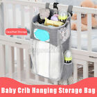 Baby Crib Cot Bed Storage Hanging Pocket Diaper Nappy Clothes Organizer