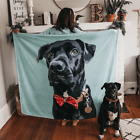 Personalized Custom Dog Cat Fleece Blanket With Photo - Pet Picture Blanket Gift