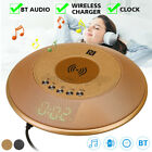 4 IN 1 Wireless Charger Pad Fast Charging / Alarm Clock /bluetooth Speaker FM