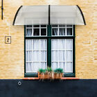 Door and Window Rain Cover Canopys Awning Shelter Porch Shade Patio Roof Black