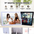 17 Inch Digital Photo Frame Share Picture Video Player HD Touch Screen w/Bracket