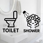 Graphic Wall decor Mural Sticker_Toilet and Shower