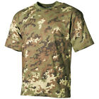 MILITARY PATROL TOP ITALIAN ARMY T-SHIRT VEGETATO CAMO COMBAT PATTERN TEE S-3XL