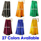 27 Color Satin Skirt Belly Dance Costume Gypsy Tribal Dress 4.5 Yard Half Circle