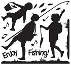ENJOY FISHING Vinyl Wall Art Deco Sticker Decal GS825