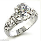 Rhodium Plated Classic 2.46ct Clear Stones Fashion Ring