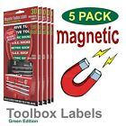 Magnetic TOOLBOX LABELS fits all Craftsman Boxes Easy Read (Green Edition)