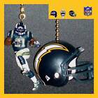 NFL SAN DIEGO CHARGERS NAVY JERSEY FIGURE & CHOICE OF RIDDELL HELMET FAN PULLS $19.99 USD on eBay