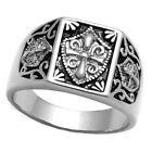 Templar Knight Rhodium EP Mens Ring