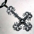 Musketeer St.Peter Fleur De Lis Upside dow Inverted Patonce Cross Pewter Pendant