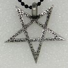 Inverted Pentagram Pentacle 5 Pointed Star Magic God Pagan Wiccan Pewter Pendant