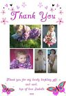 Photo Personalised Butterfly Thank You Cards