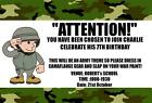 Childrens Personalised Army Party Invitations