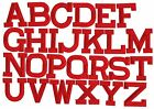 "RED - 2"" Alphabet /Letters your choice - Iron on Applique /Embroidered Patch"