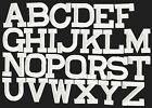 """Iron on Embroidered Alphabet Letters WHITE your choice 2"""" Tall"""