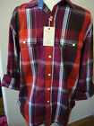 NEW MEN'S Club Room Shirt Plaid Button Front