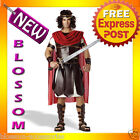 C37 Gladiator Hercules Roman Toga Men Fancy Dress Costume M L XL Plus
