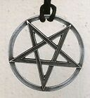 Magic Pentacle Pentagram Star Pagan Wiccan Magick pewter pendant W Cotton Rope