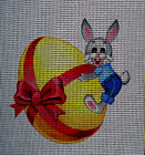 "Needlepoint canvas ""Easter Bunny & Gift Egg"""