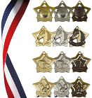 MEDAL INC. RIBBON-HORSE,GYMNASTICS,BASKETBALL OR HOCKEY - mini star medal