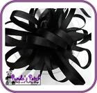 Black Double Faced Satin Ribbon Available in 3 Lengths, 8 Widths