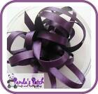 Blackberry Double Faced Satin Ribbon Available in 3 Lengths and 8 Widths
