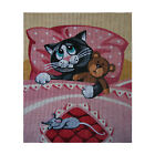 "Needlepoint canvas ""Good night sweet cat"""