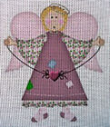 "Needlepoint canvas ""Christmas Angel"""